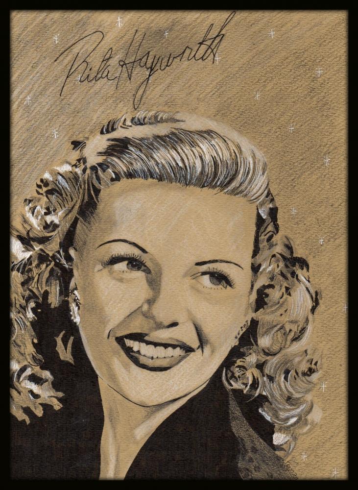 Rita Hayworth por Clint